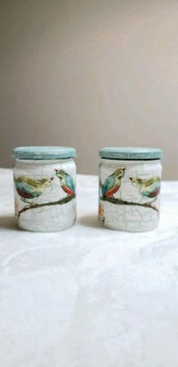 two white-and-green glasses jars Middletown, 10940