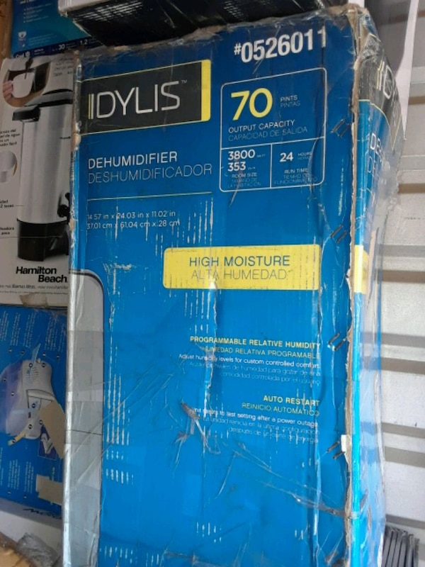 Idylis- dehumidifier brand new