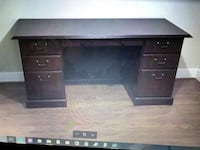 Black wooden single-pedestal desk Gaithersburg, 20879