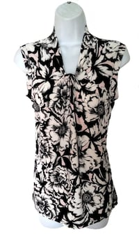 Floral Knot Neck Top L Burnaby