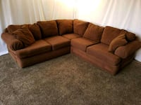 #1609 - Professionally Cleaned Corduroy Sectional Oregon City, 97045