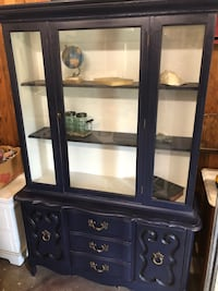 Navy blue hutch with gold pulls Hanover, 17331