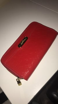 Bright red wallet