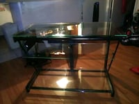 3 shelves glass coffee table Downey, 90241