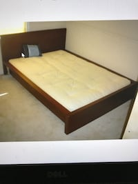 Full or Queen Brown Wood Frame Bed, will Deliver ! Annandale