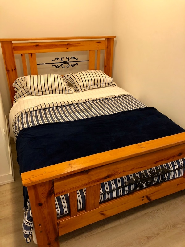 PRICE DROPPED! Queen Wood Bed Frame (MOVING SALE)