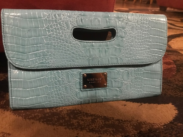 Used Baby Blue Nine West Clutch bag for sale in New York - letgo cb4c023926c09
