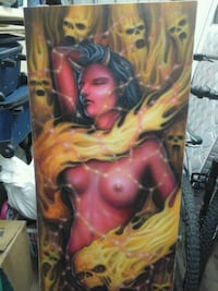 evil woman painting