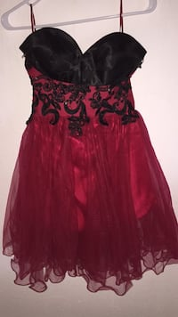 Red black/red cocktail dress Spangdahlem