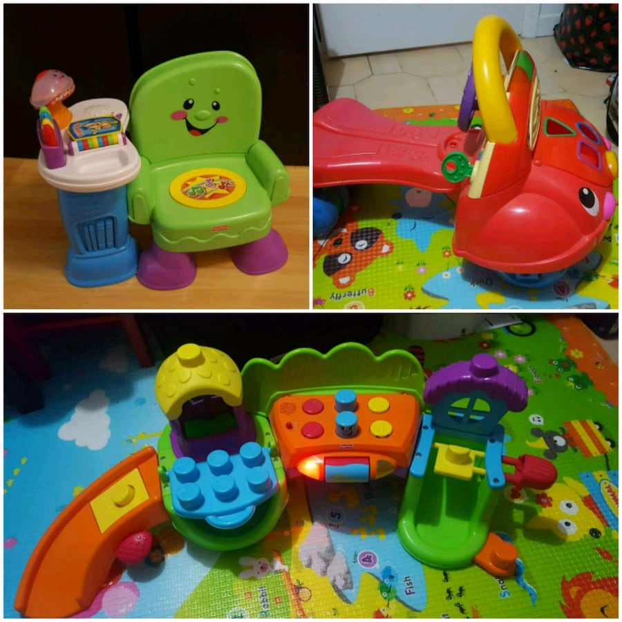 3 Toddler Toys Ride On Interactive for $40
