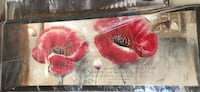 red and black poppies painting North Vancouver, V7M 3M1
