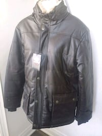 black leather zip-up jacket Brampton, L6R