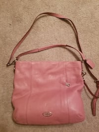 women's pink leather sling bag WASHINGTON