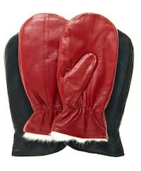 Wool mittes Leather Gloves, latex, plastic, rubber, PVC, fingerless, 11639 km