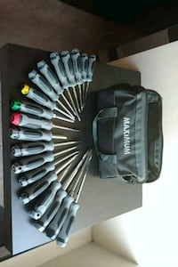 Complete screwdriver set, with bag.  Surrey, V3T 5H6