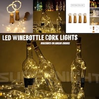 Led fairy cork lights wine bottle wedding party warm white bar mitzvah event birthday bohemian sparkle outdoor indoor romantic anniversary Markham, L3P 1R5