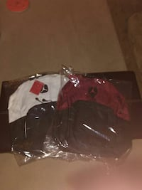 pair of black-red-and-whtie Air Jordan backpack Windsor, N9B