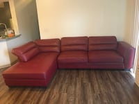 red leather sectional couch with ottoman Brookhaven, 30319