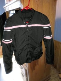 black and pink zip-up riding jacket Bunnell