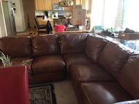 Leather sectional small rips in seam. Not noticeable. Good condition LOUISVILLE
