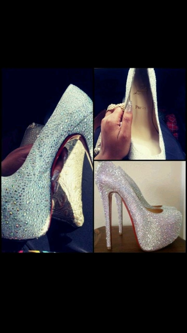 best website 50747 21a98 Christian Louboutins sparkly heels