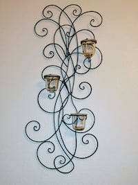 Set of 2 wall iron decor with glass votives Edinburg, 78541