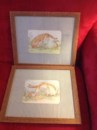 two brown wooden framed paintings Wake Forest, 27587