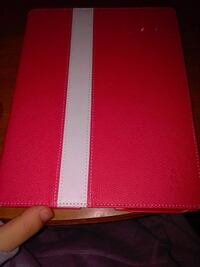 red and white leather wallet TYLER