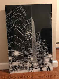 "Beautiful black and white New York City ""Nightline"" art"