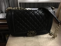 black leather quilted crossbody bag Falls Church, 22311