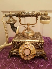 Antique table phone 10x9""