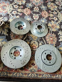Brake rotors set of 4 rear and front  Palm Beach, 33480