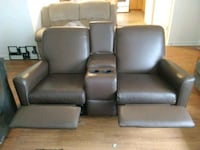 brown leather home theater sofa Conway, 29527