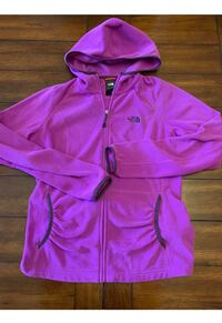 North face Polartec Full Zip Fleece Jacket Hoodie ~ Large