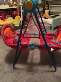 Baby doll red and blue mobile swing Reston, 20191