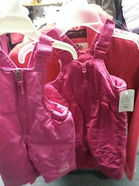 toddler's two pink overall pants