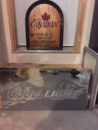 Coors Light Mirror only (CANADIAN SIGN IN BACK GROUND IS SOLD).