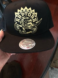 black and white Toronto Raptors fitted cap Vaughan, L4J