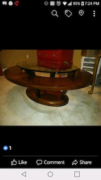 Coffee Table with glass Solid wood New Parrish, 34219
