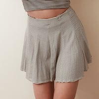 b&w striped pleated skirt Markham