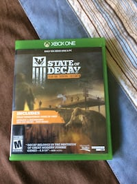 state of decay Xbox One game case