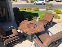 High end Fire table patio set Litchfield Park, 85340