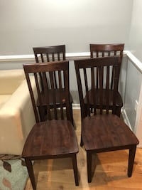 two brown wooden armless chairs Fairfax, 22033