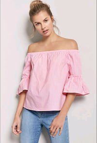 new w tag F21 medium pink off the shoulder top Fairfax