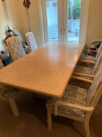 Light Oak Dining Room Table with 8 Captains Chairs Moorpark, 93021