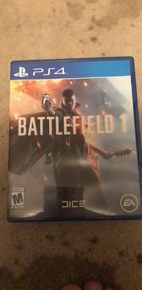 Battlefield 1 PS4 game case Arlington, 22205