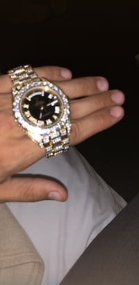 Iced out gold Day Date Rolex. With original box. Greeley, 80631