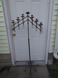 Vintage Gothic WROUGT IRON Candleabra 7 candle.  Port Huron