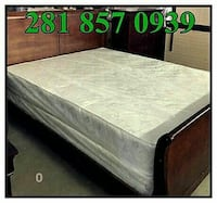 Modest Queen bed with mattress and box