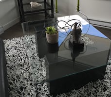 Glass Top Coffee Table - Pending Pick up